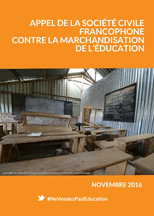 Rencontre francophone sur la marchandisation et la privatisation de l'éducation.